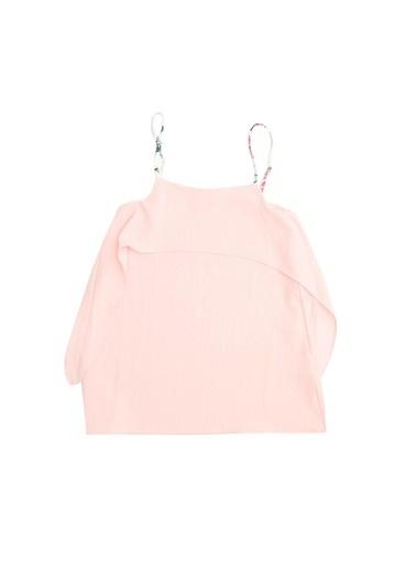 Pink&Orange Pink&Orange MAR51 Pembe Askılı Kız Çocuk Elbise Pembe